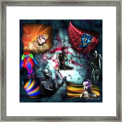 Galaxy Girls Framed Print by John Rizzuto