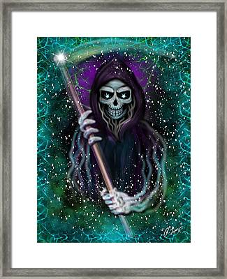 Galaxy Grim Reaper Fantasy Art Framed Print