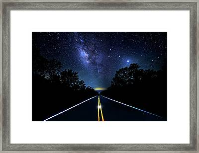 Framed Print featuring the photograph Galaxy Highway by Mark Andrew Thomas