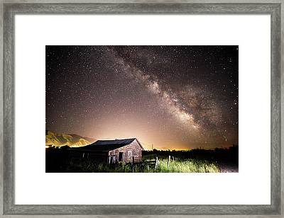 Framed Print featuring the photograph Galaxy In Star Valley by Wesley Aston