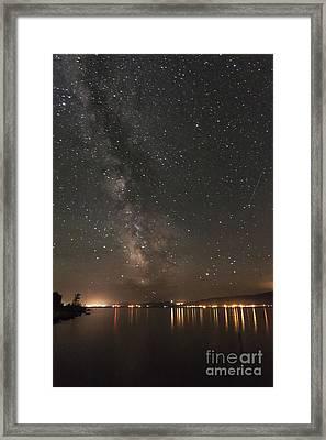 Galaxy Lake Framed Print by Carolyn Brown