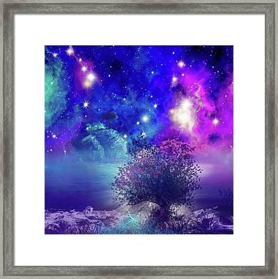 Galaxy Landscape 2 Framed Print