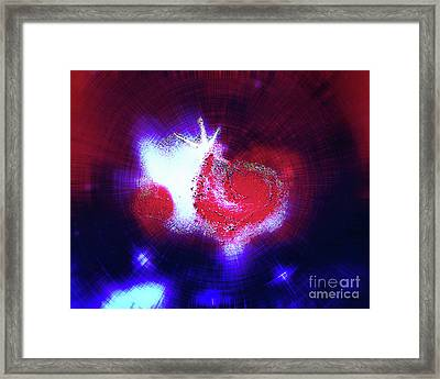 Galaxy Light Heart Framed Print by Jennifer Allen