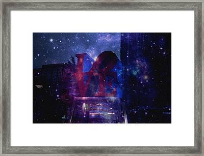 Galaxy Love Framed Print by Brynn Ditsche