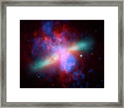 Galaxy M82 Framed Print by Marco Oliveira