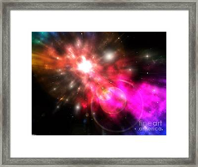 Framed Print featuring the digital art Galaxy Of Light by Phil Perkins