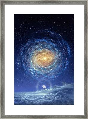 Galaxy Rising Framed Print by Don Dixon