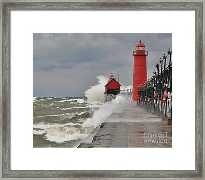 Gale Warnings Framed Print by Robert Pearson