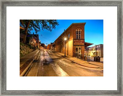 Galena By Night Framed Print by Matt Hammerstein