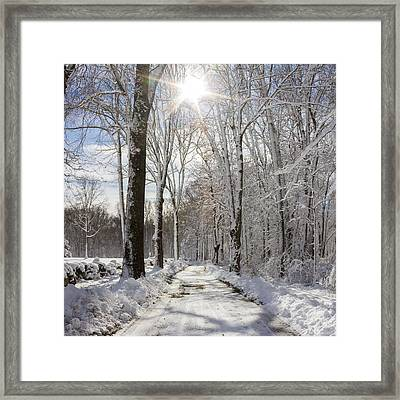 Gales Ferry Winter Wonderland Framed Print