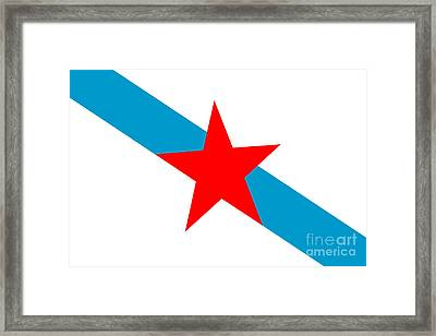 Galician Nationalism Flag Framed Print by Frederick Holiday