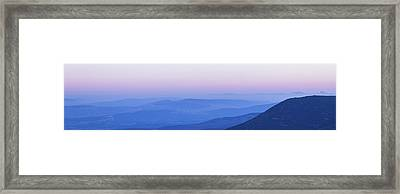 Framed Print featuring the photograph Galilee Mountains Sunset by Yoel Koskas
