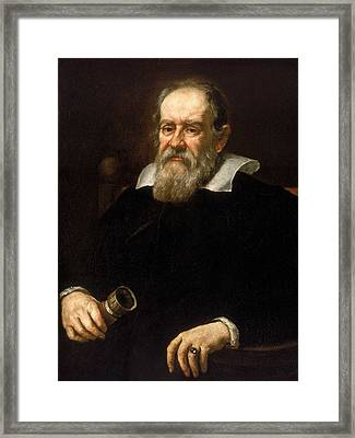 Galileo Galilei - Astronomer And Mathematician Framed Print by War Is Hell Store