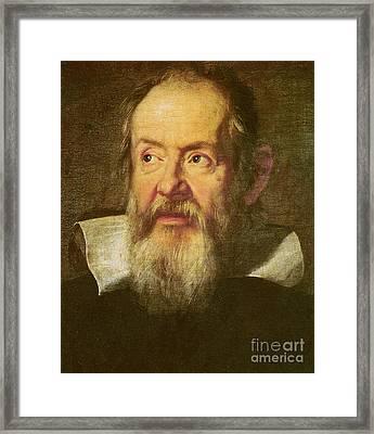 Galileo Galilei Framed Print by Justus Sustermans