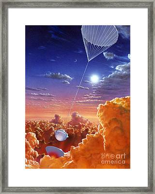 Galileo Space Probe Framed Print by Lionel Bret and Photo Researchers