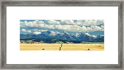 Gallatin Range Framed Print by Todd Klassy