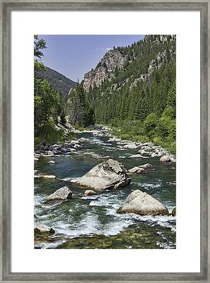 Gallatin River House Rock Framed Print
