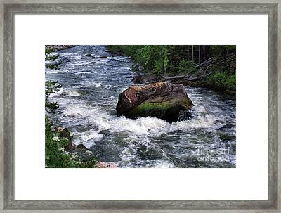 Gallatin River House Rock Framed Print by Timothy Hacker