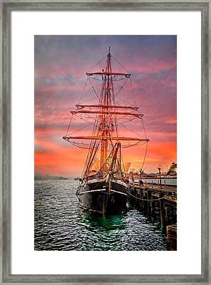 Galleano's Quest Framed Print