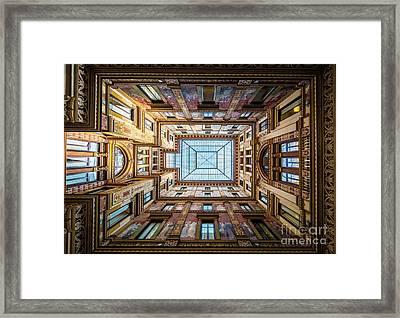 Galleria Ceiling Framed Print by Inge Johnsson