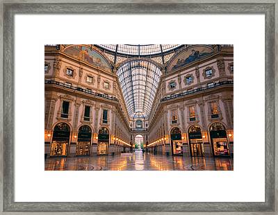 Galleria Milan Italy II Framed Print