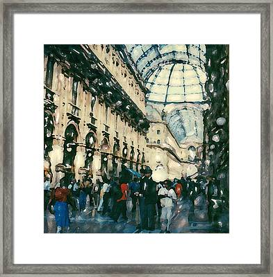 Galleria Milan Framed Print by Linda Scharck