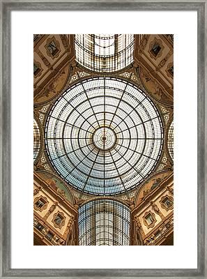 Galleria Victor Emmanuel 1 Framed Print by Art Ferrier