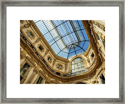 Galleria Vittorio Emanuele II Shopping Art Mall In Milan Framed Print by Frank Bach