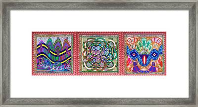 Gallery Interior Decorations 3 Novino Signature Style Abstract Graphics In One  Stitched Leather Loo Framed Print