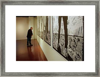 Framed Print featuring the photograph Gallery Lines by Nikolyn McDonald