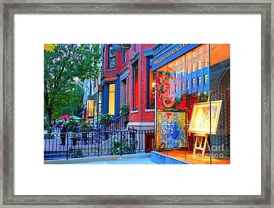 Gallery - Newbury St. Boston, Ma.valentina Averina Photography  Framed Print