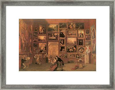 Gallery Of The Louvre Framed Print