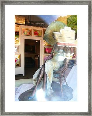 Gallery Window Framed Print by Lori Seaman