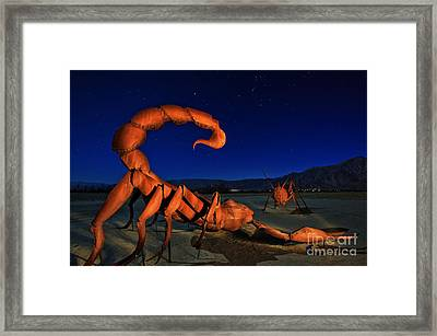Galleta Meadows Estate Sculptures Borrego Springs Framed Print by Sam Antonio