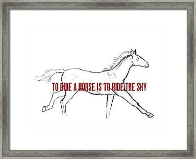 Gallop Quote Framed Print by JAMART Photography