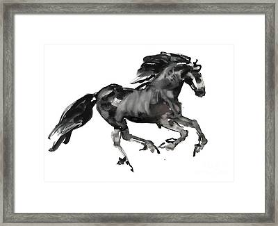 Gallop Framed Print by Mark Adlington