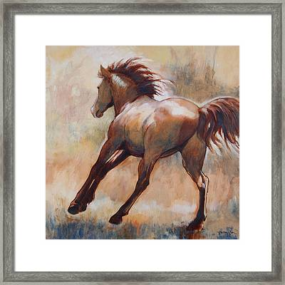 Gallop Framed Print by Tracie Thompson