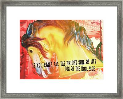 Galloper Quote Framed Print by JAMART Photography