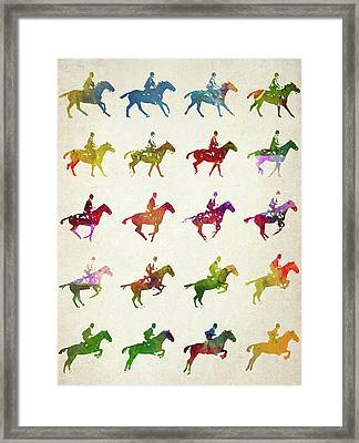 Galloping Gait Terrestrial Locomotion  Framed Print by Aged Pixel