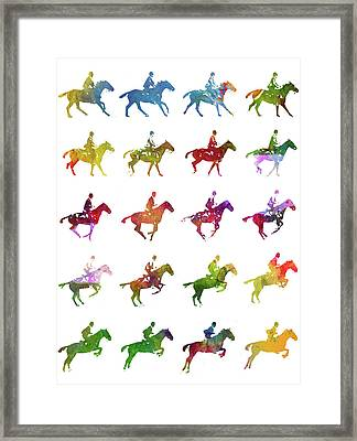 Galloping Gait Terrestrial Locomotion - White Framed Print