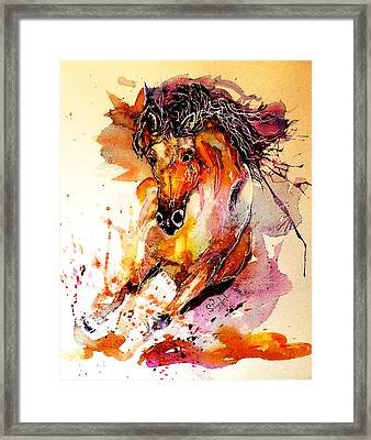 Galloping Horse Framed Print