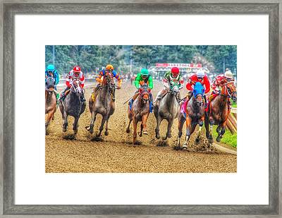 Galloping Framed Print