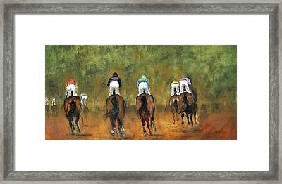 Galloping Out Framed Print by Leisa Temple