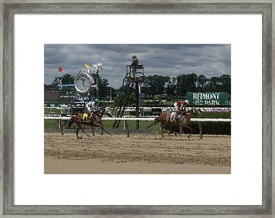 Framed Print featuring the digital art Galloping Out Painting by  Newwwman