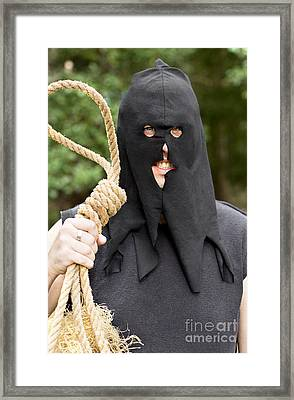 Gallows Hangman With Noose Framed Print by Jorgo Photography - Wall Art Gallery