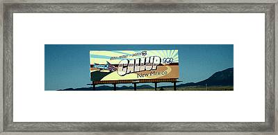 Gallup New Mexico Framed Print
