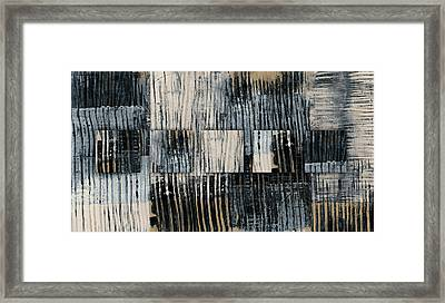 Galvanized Paint Number 1 Horizontal Framed Print by Carol Leigh