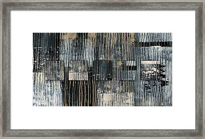 Galvanized Paint Number 2 Horizontal Framed Print by Carol Leigh