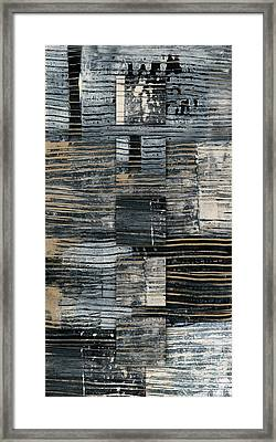 Galvanized Paint Number 2 Vertical Framed Print by Carol Leigh