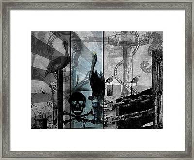 Galveston - Home To Pirates And Pelicans Framed Print